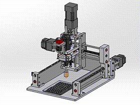 CNC三轴转动打磨机 TMKE1008 solidworks 3D图纸 三维模型