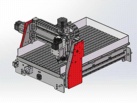 龙门3轴雕刻机 TMKE1010 solidworks 3D图纸 三维模型