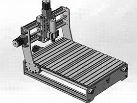雕刻机6040三轴 TMKE2004 Solidworks格式 3D图纸 三维模型