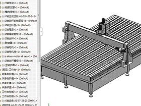 广告雕刻机1500X3000 TMKE2005 Solidworks格式 3D图纸 三维模型