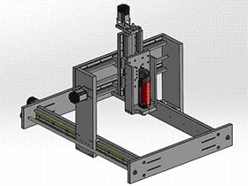 龙门移动式三轴雕刻机 TMKE2008 Solidworks格式 3D图纸 三维模型