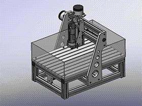 桌面式DIY雕刻机 TMKE2009 Solidworks格式 3D图纸 三维模型