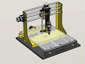 桌面CNC雕刻机 TMKE2010 Solidworks格式 3D图纸 三维模型