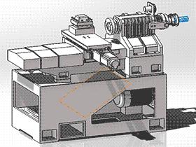 线轨数控车床 TMLK1001 通用格式 3D图纸 三维模型