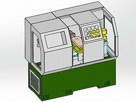 数控车床 带工程图 TMLK2003 Solidworks格式 3D图纸 三维模型