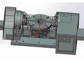 五轴CNC转台 TMNB1005 Solidworks格式 3D图纸 三维模型