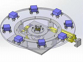 气缸分度机构 TMNB1007 Solidworks格式 3D图纸 三维模型