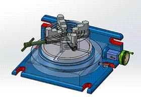 CNC转台 方案图 TMNB1011 Solidworks格式 3D图纸 三维模型