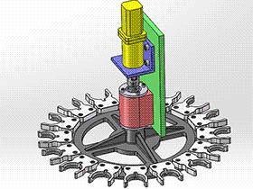CNC换刀机构 tmnc1002 通用格式 3D图纸 三维模型