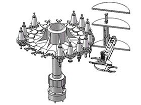数控刀具装置、自动换刀装置 tmnc1004 通用格式 3D图纸 三维模型