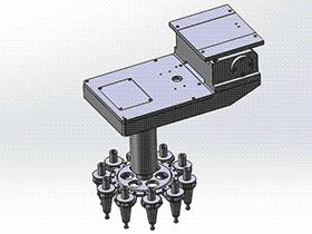 立式加工中心 圆盘式刀库 tmnc1005 通用格式 3D图纸 三维模型