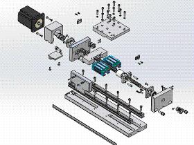 丝杠模组 tmnh1002 solidworks格式 3D图纸 三维模型
