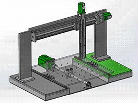 3坐标移动平台 tmnh2001 solidworks格式 3D图纸 三维模型