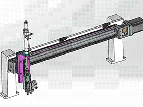 单轴机械手 tmnh2004 solidworks格式 3D图纸 三维模型
