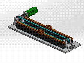 同步带滑轨模组 tmnh2005 solidworks格式 3D图纸 三维模型