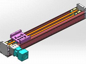 单轴机械手模组-同步带传动 tmnh2008 solidworks格式 3D图纸 三维模型