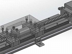 伺服滚珠丝杠导轨 tmnh2011 solidworks格式 3D图纸 三维模型