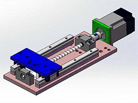 同步带XY轴 tmnh2013 solidworks格式 3D图纸 三维模型