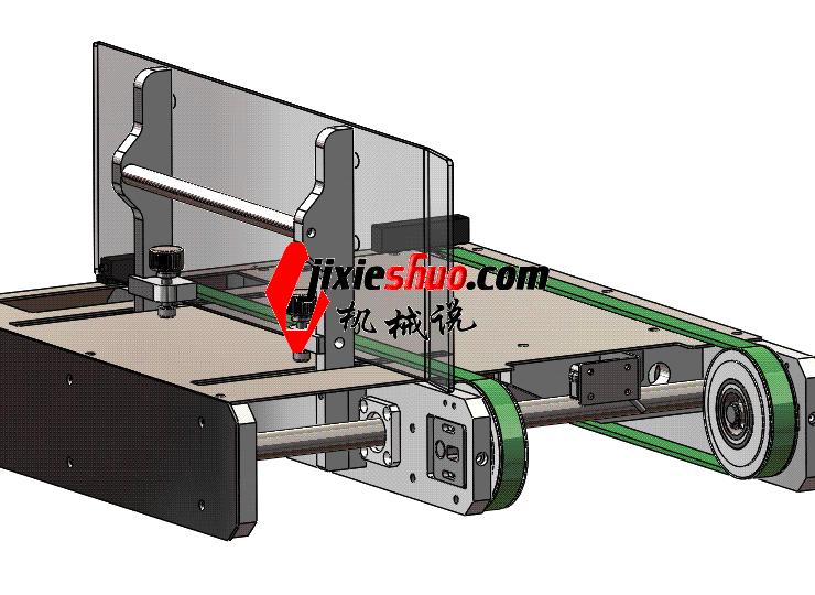 可调宽度输送导轨 ycaa0001 STEP格式 3D图纸 三维模型