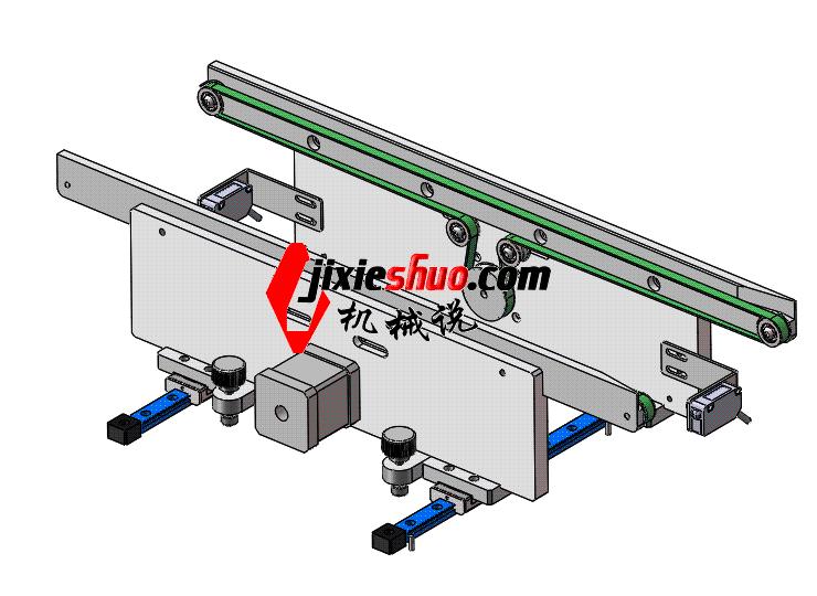 接驳输送导轨 ycaa0002 STEP格式 3D图纸 三维模型