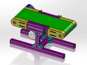 铝型材输送机 ycaa0005 STEP格式 3D图纸 三维模型