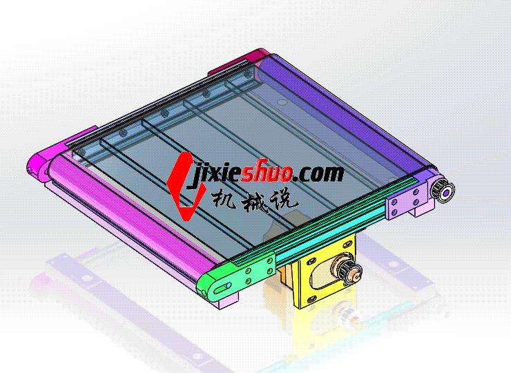 铝型材皮带线 ycaa0009 STEP格式 3D图纸 三维模型