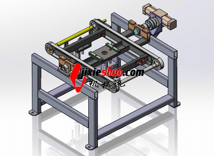 翻转顶升输送机 ycaa0010 STEP格式 3D图纸 三维模型