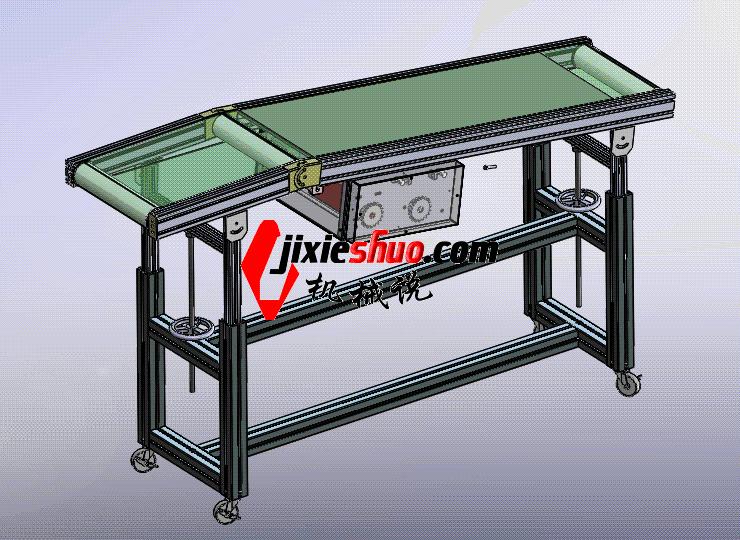 平斜型皮带机 ycaa0012 STEP格式 3D图纸 三维模型