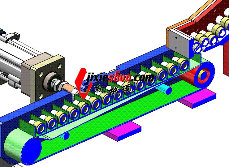 圆柱零件输送机 ycaa0014 STEP格式 3D图纸 三维模型