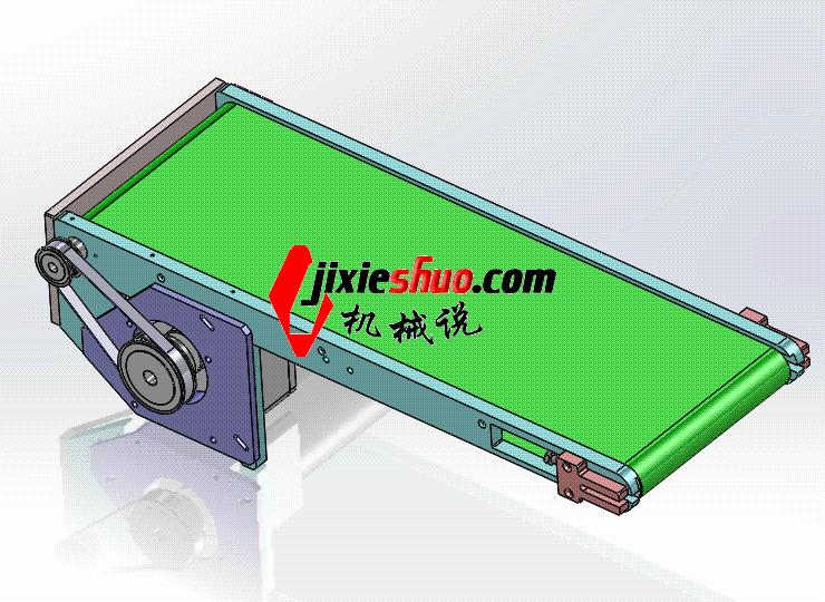 小型皮带线 ycaa0016 Solidworks STEP格式 3D图纸 三维模型