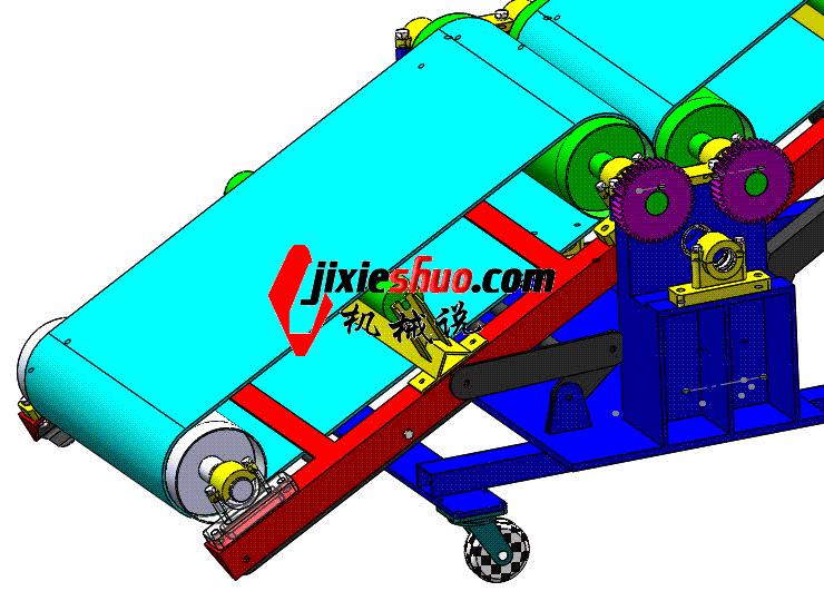 装卸用带式输送机 ycaa0018 Solidworks STEP格式 3D图纸 三维模型