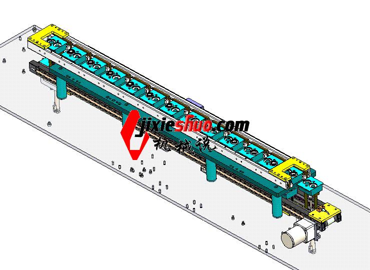 夹具循环输送线 ycaa0021 Solidworks STEP格式 3D图纸 三维模型
