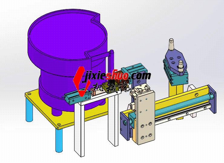 外卡簧送料机构 ycaa0022 Solidworks STEP格式 3D图纸 三维模型