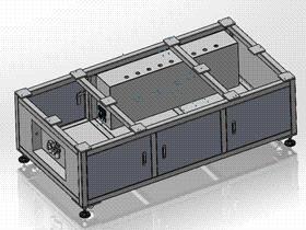 机架电箱 ycab0002 STEP格式 3D图纸 三维模型
