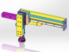 气缸机械手 ycac0003 STEP格式 3D图纸 三维模型