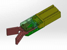 机械手指 气动手爪 ycac0018 Solidworks STEP格式 3D图纸 三维模型