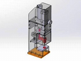 压装机 ycae1001 Solidworks STEP格式 3D图纸 三维模型