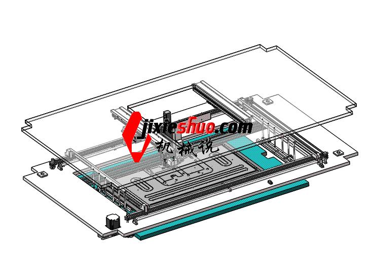 点胶机 ycaf0002 STEP格式 3D图纸 三维模型