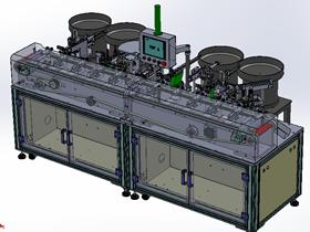 骨架插针机 自动组装机 3D设计图纸素材 T309 非标机械源文件 ZDAC2001