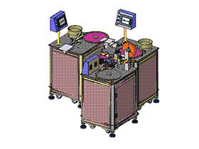 咪头非标自动组装机 ZDAB1015 solidworks 3D图纸 三维模型