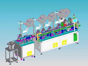 苹果耳机连接器自动组装机 ZDAB1018 solidworks 3D图纸 三维模型