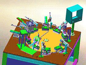 手机充电器插头组装机 ZDAB1019 solidworks 3D图纸 三维模型