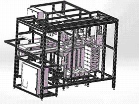 非标自动化抽屉盒组装机 ZDAD1002 solidworks  3D图纸 三维模型