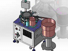 香水喷头泵心密封圈组装机 ZDAD1003 solidworks  3D图纸 三维模型