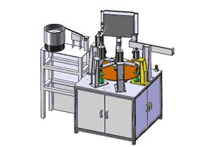 转盘式膨胀阀阀体组装机 ZDAD2001 solidworks  3D图纸 三维模型