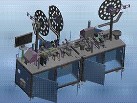 CCD自动检测、组装一体机 ZDAE1001 solidworks 3D图纸 三维模型