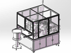 灯头装配机总装 ZDAE1003 solidworks 3D图纸 三维模型