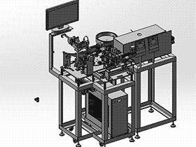 电感器组装焊接点胶一体机 ZDAE1005 solidworks 3D图纸 三维模型