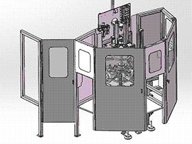 定子夹组装机 ZDAE1006 solidworks 3D图纸 三维模型