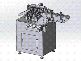 电容剪脚弯脚成型一体机 ZDAE1012 solidworks 3D图纸 三维模型